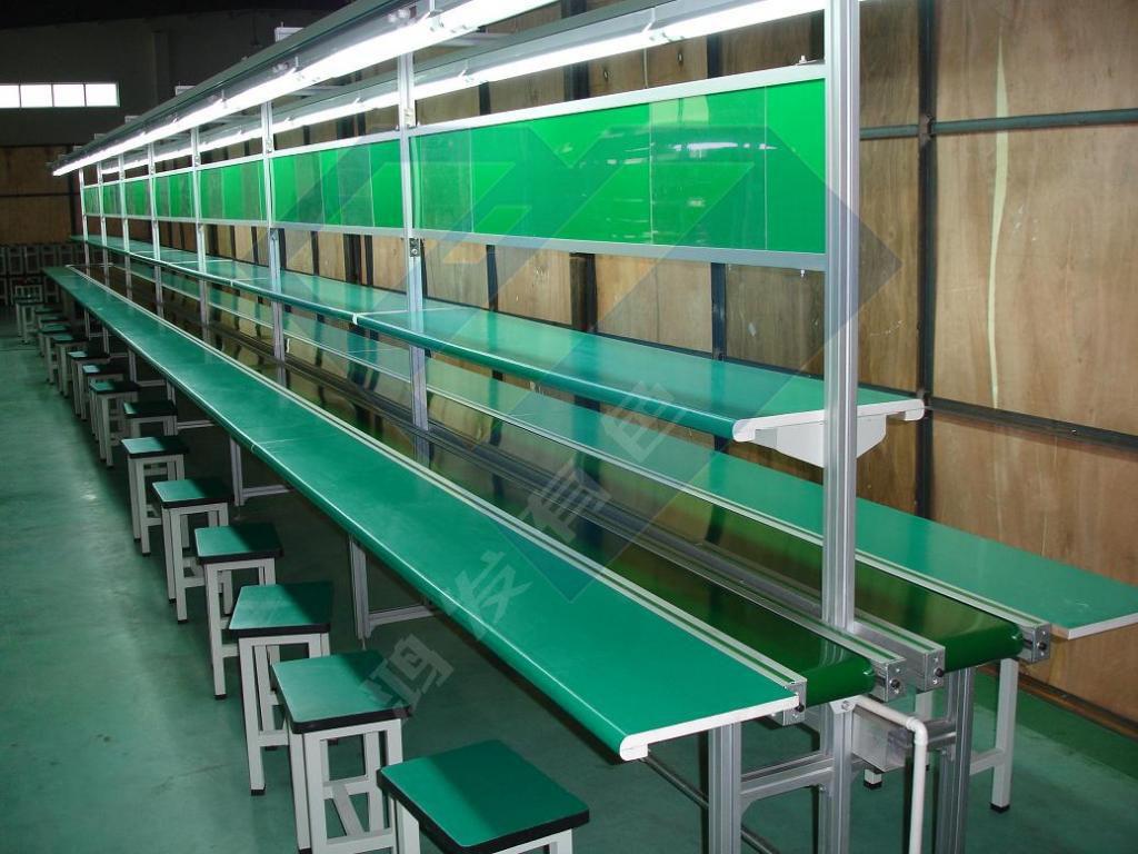 带输送线的流水线铝型材防静电工作台定制