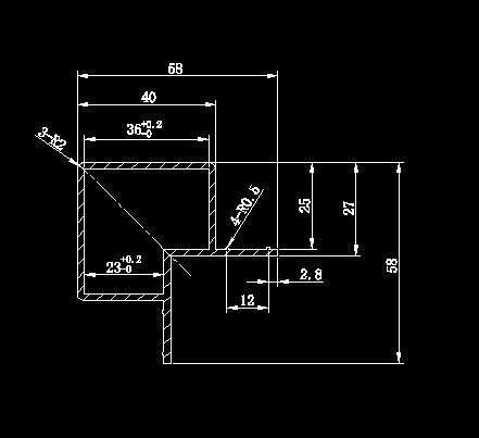 空调柜架铝型材图纸