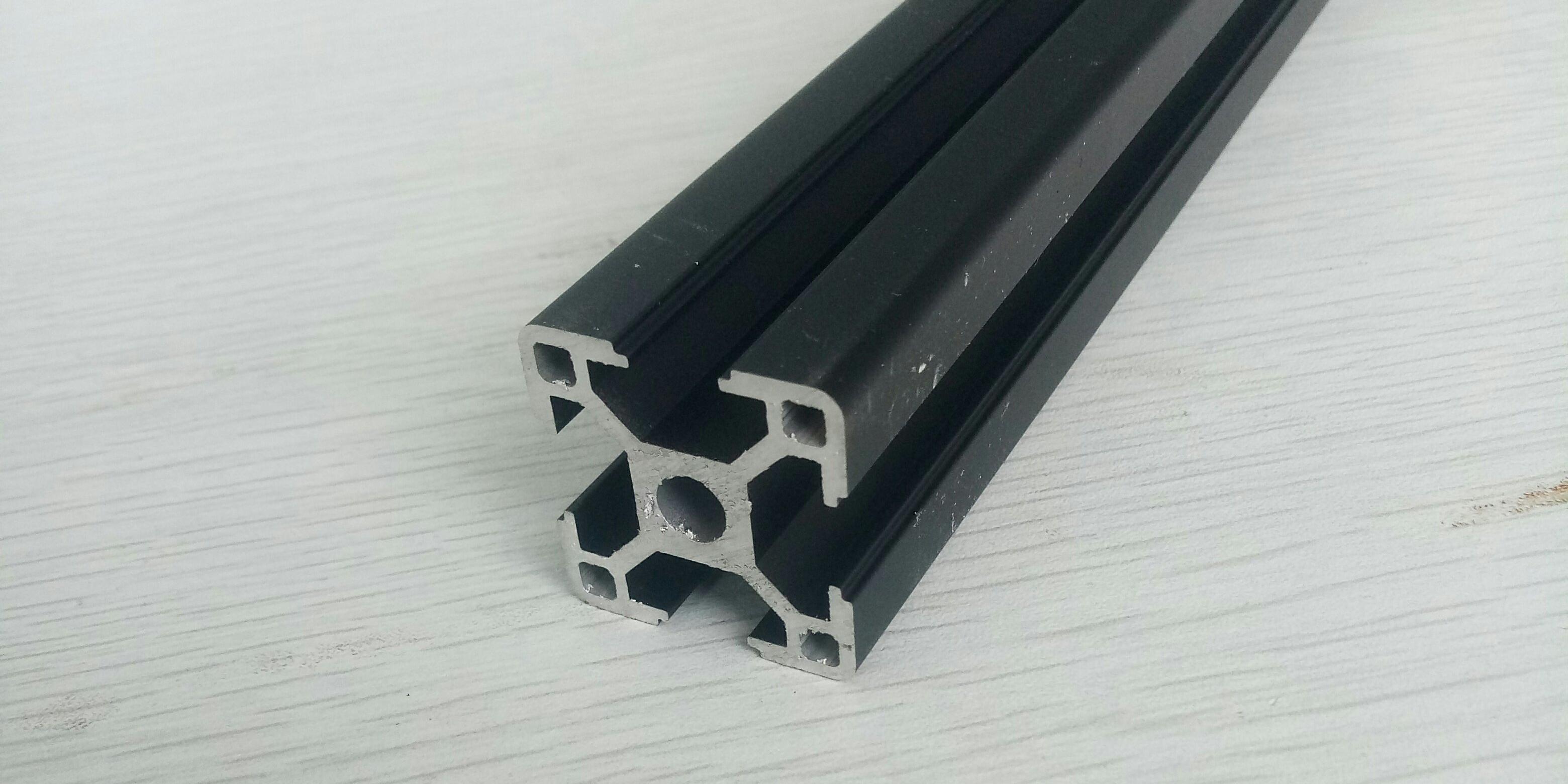 3030黑色流水线铝型材