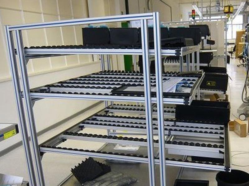 鸿发有色厂家定制铝型材车间物料架 铝合金流利架 多种规格
