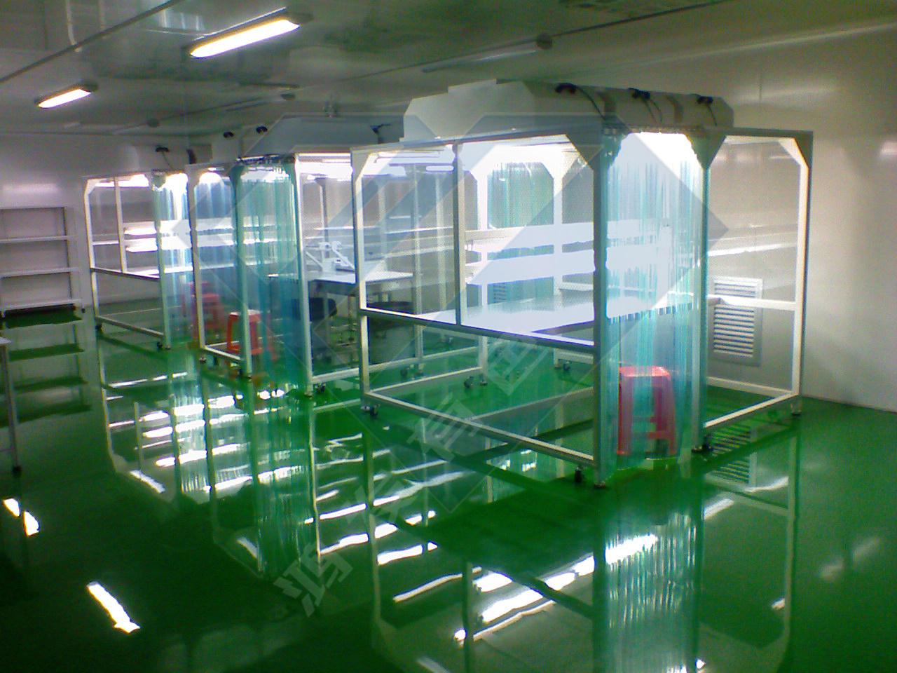 厂家承接小型无尘室隔断 洁净棚工程定制  铝型材搭建无尘棚