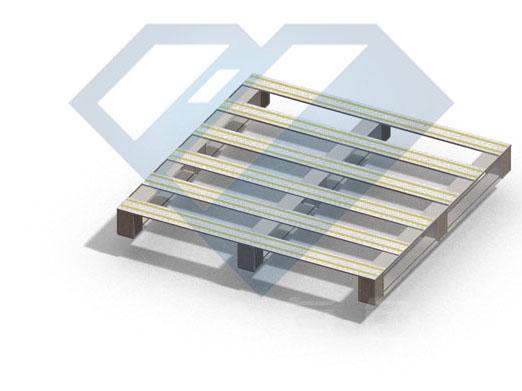 铝合金托盘三维图