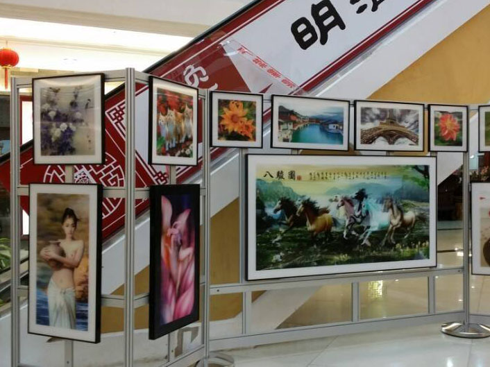 厂家定制铝型材书画展览展示架