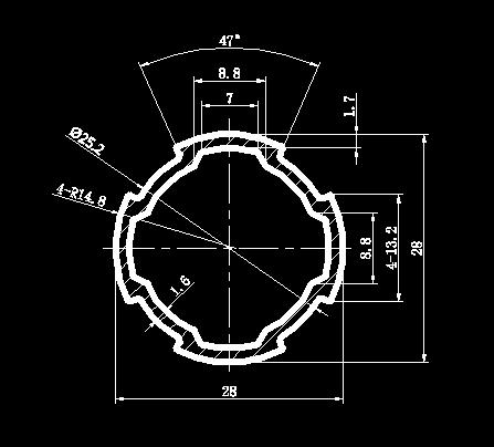 28mm铝合金精益管