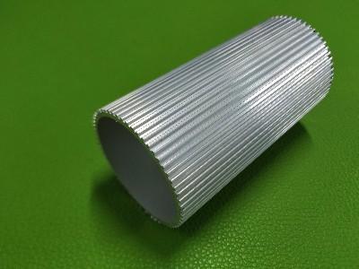 南京铝材厂定制铝合金散热圆管  带齿纹圆筒状散热铝型材