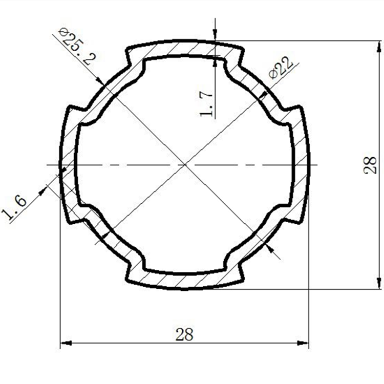 φ28铝合金精益管