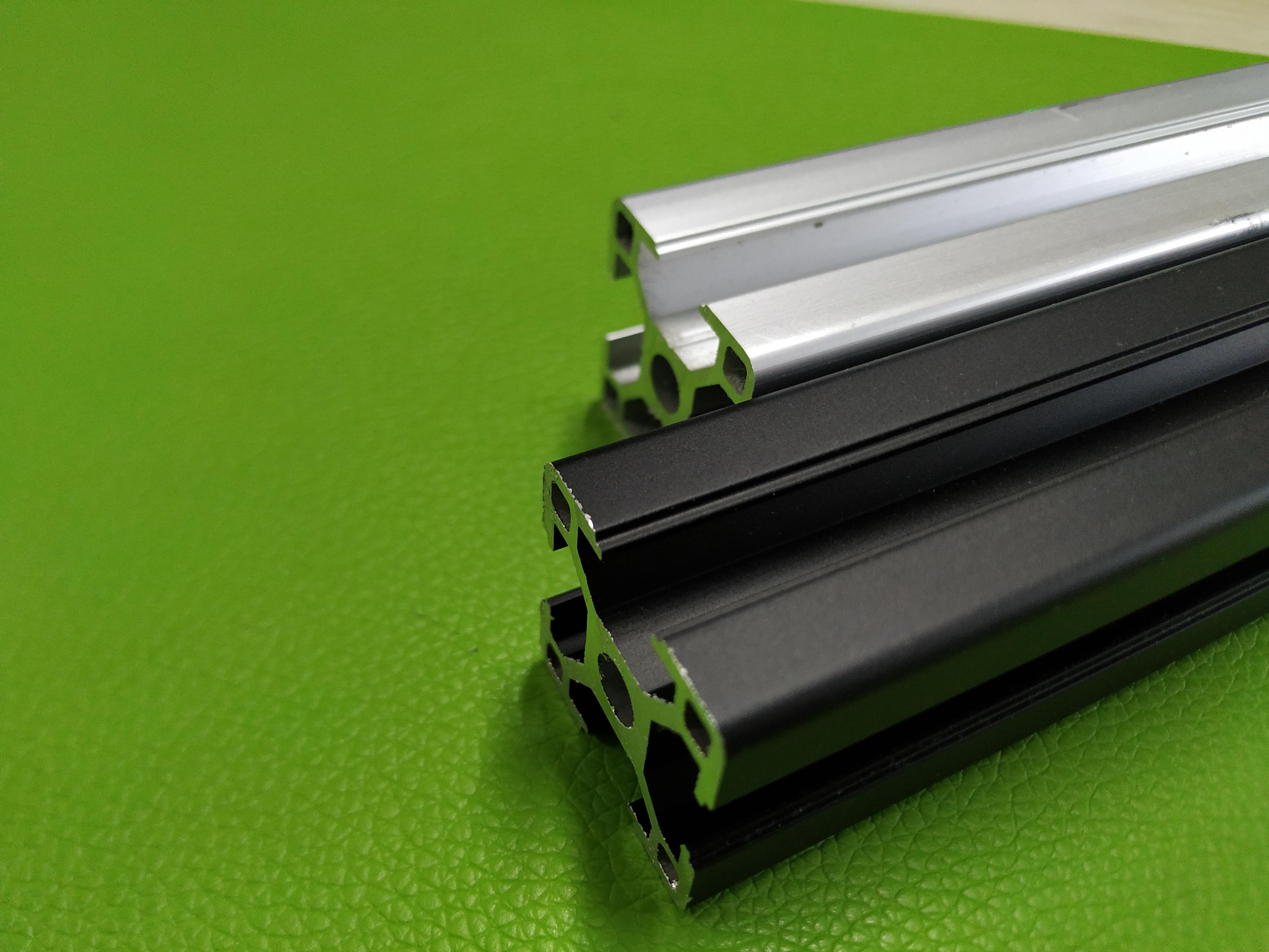 3030工业铝型材黑色/银白砂面氧化处理