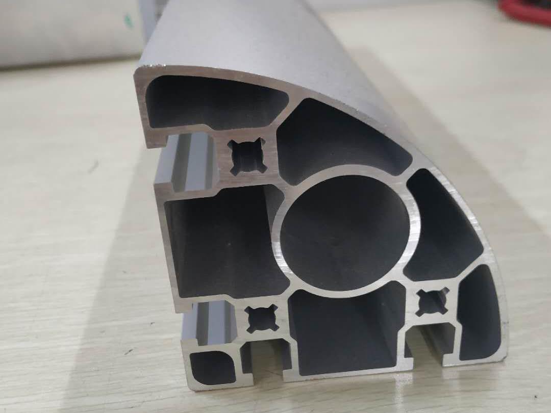 9090转角铝型材 双槽铝合金型材开模定制