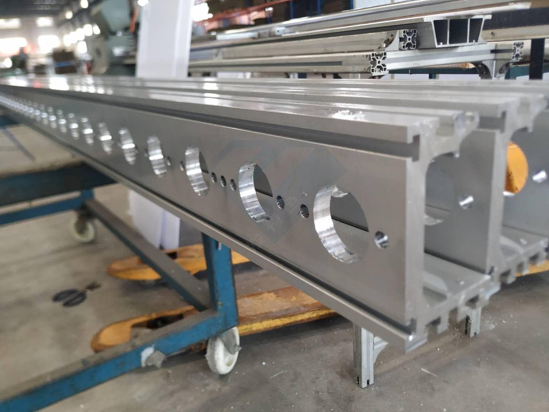 摩擦线铝型材CNC加工 磨擦线设备长料铝型材数控加工