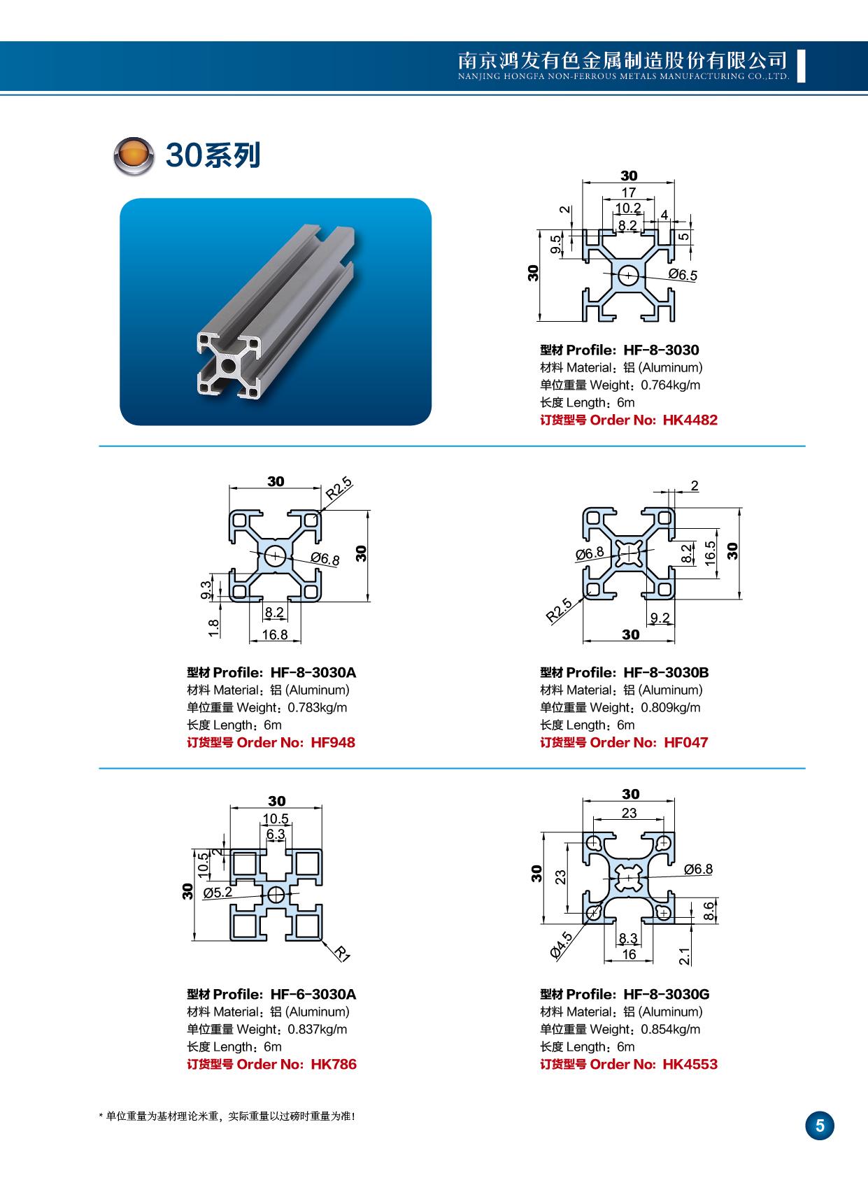 30系列工业铝型材1