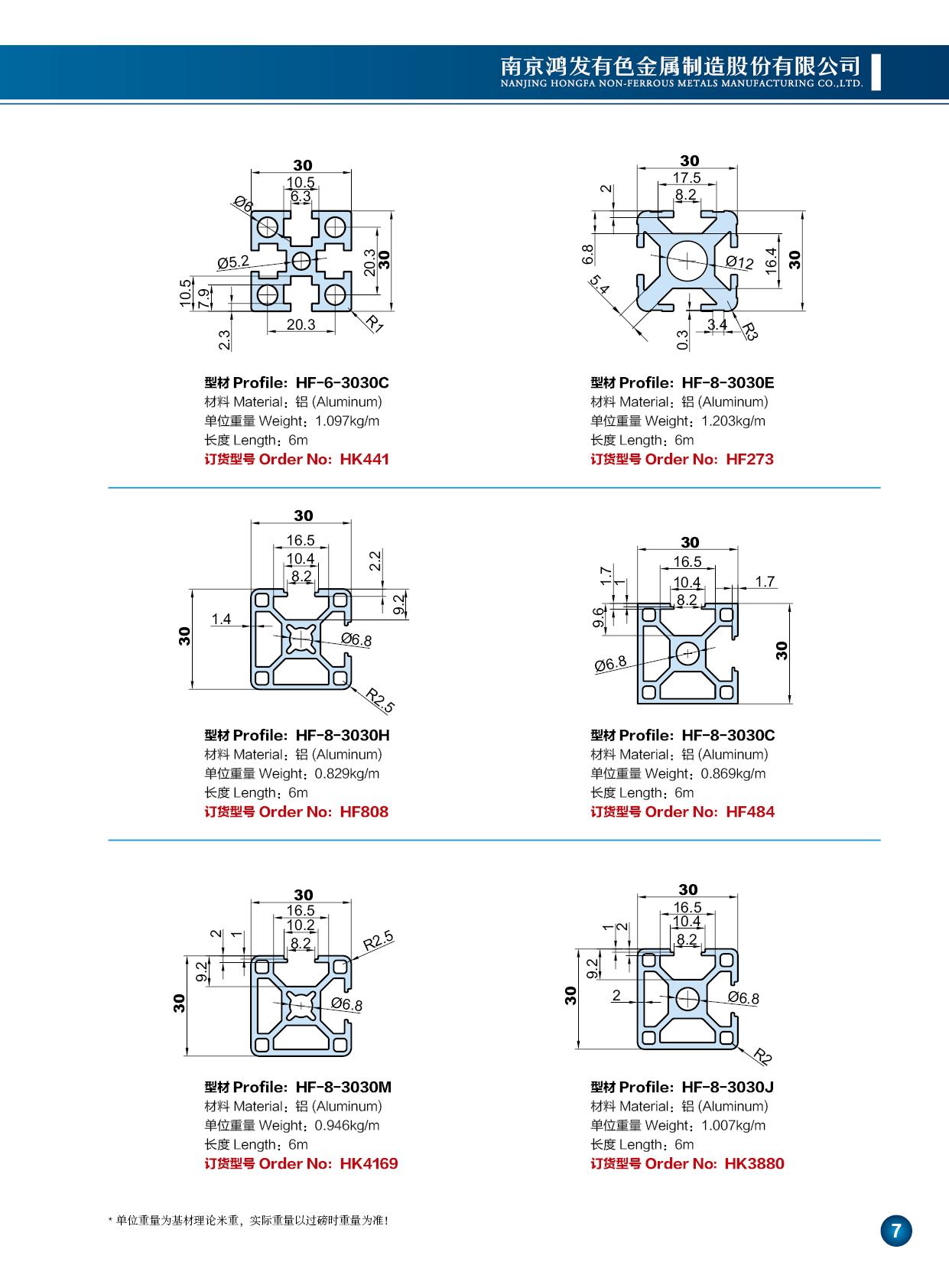 30系列工业铝型材3