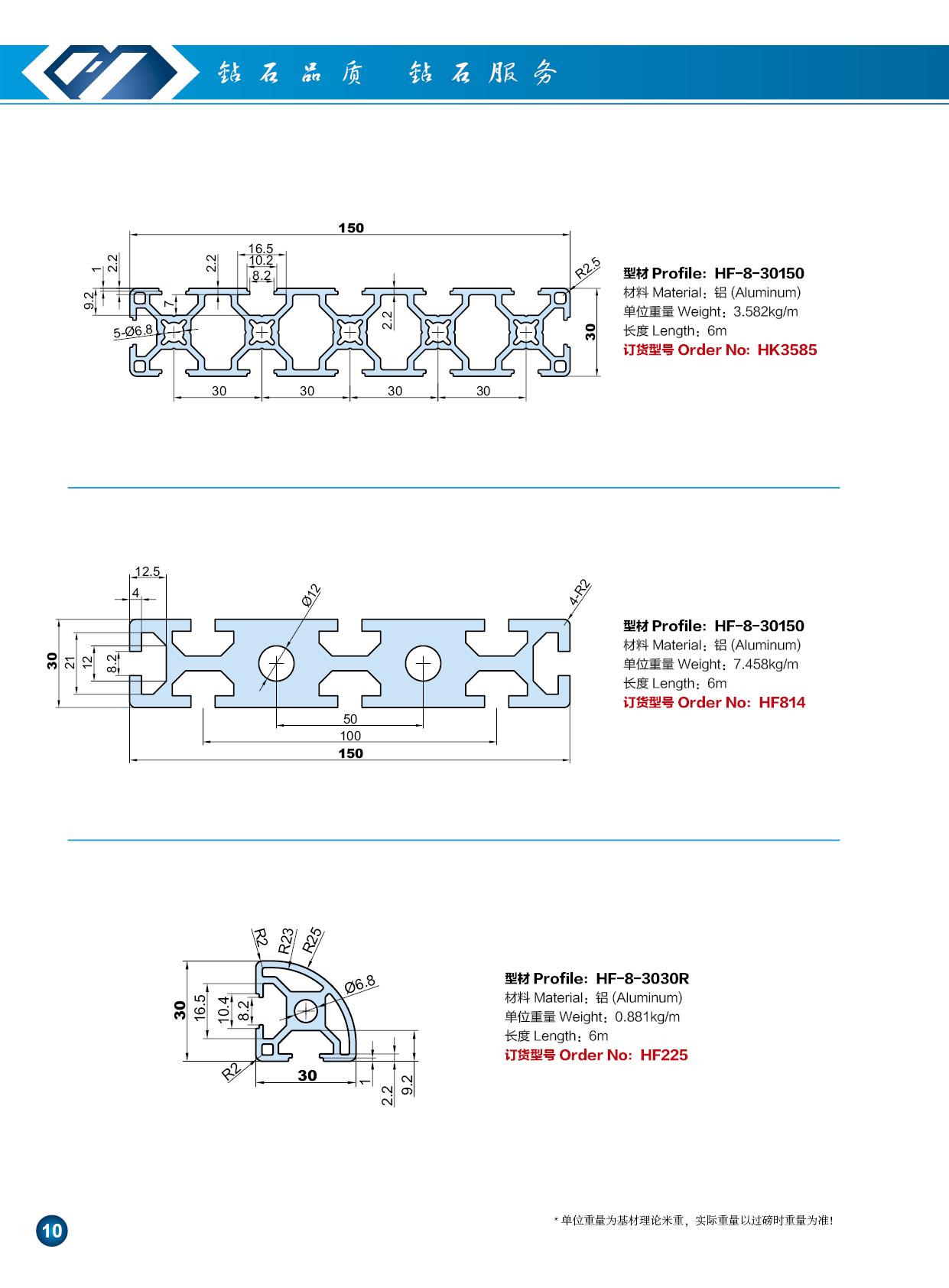 30系列工业铝型材6