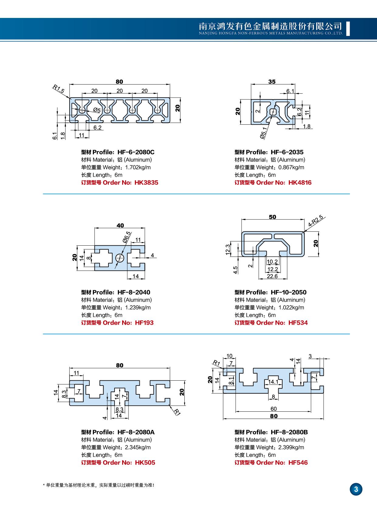 20系列工业铝型材