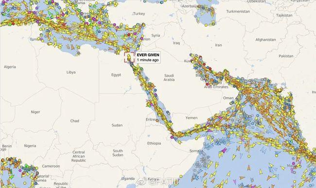 苏伊士运河堵塞