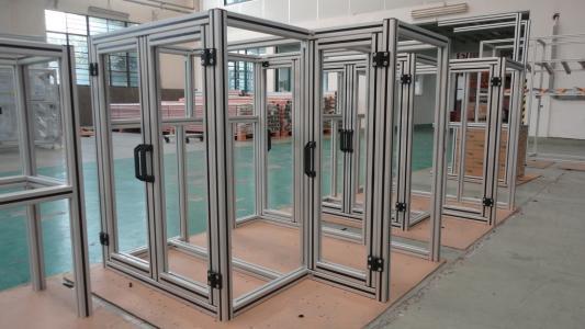 源头厂家定制铝合金设备外框(铝合金框架)