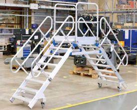 鸿发有色厂家定制小型铝合金移动检修台