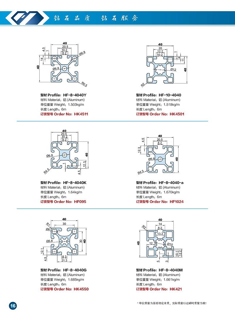 4040铝型材图册